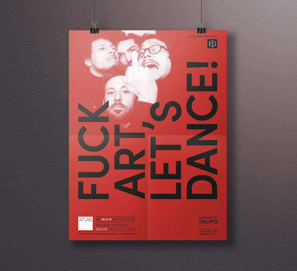 Fuck Art Lets Dance Poster